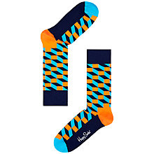 Buy Happy Socks Filled Optic Socks, One Size, Orange Online at johnlewis.com