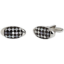 Buy Simon Carter Gherkin Onyx and Mother of Pearl Cufflinks, Metallic/Multi Online at johnlewis.com