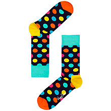 Buy Happy Socks Big Dot Print Socks, One Size, Navy Online at johnlewis.com