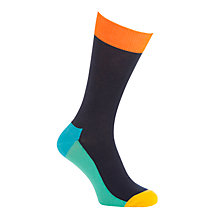 Buy Happy Socks 5-Colour Cotton Socks, One Size, Navy Online at johnlewis.com
