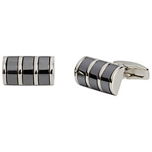 Buy Simon Carter Haematite Curve Platinum Plate Cufflinks, Gunmetal Online at johnlewis.com