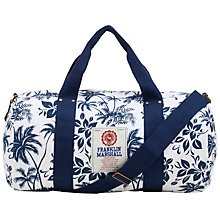 Buy Franklin & Marshall Floral Duffle Bag, White Online at johnlewis.com