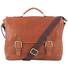 Buy JOHN LEWIS & Co. Santiago Leather Workbag, Brown Online at johnlewis.com