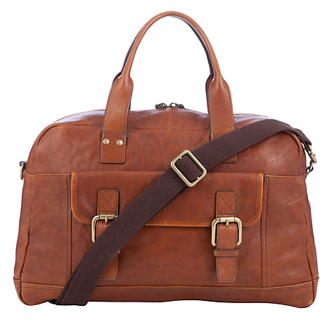 Buy JOHN LEWIS & Co Santiago Leather Holdall, Brown Online at johnlewis.com