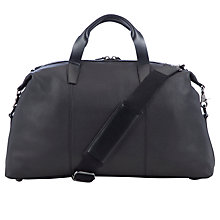 Buy John Lewis Cruz Leather Holdall, Black Online at johnlewis.com