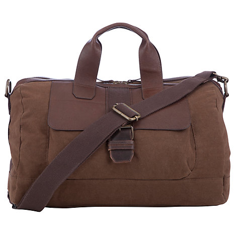 Buy John Lewis Peru Canvas Holdall, Brown Online at johnlewis.com