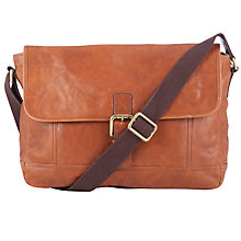 Buy JOHN LEWIS & Co. Santiago Leather Messenger, Brown Online at johnlewis.com