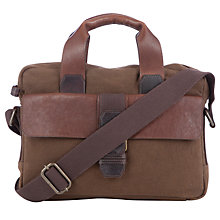 Buy John Lewis Peru Canvas & Leather Workbag, Brown Online at johnlewis.com