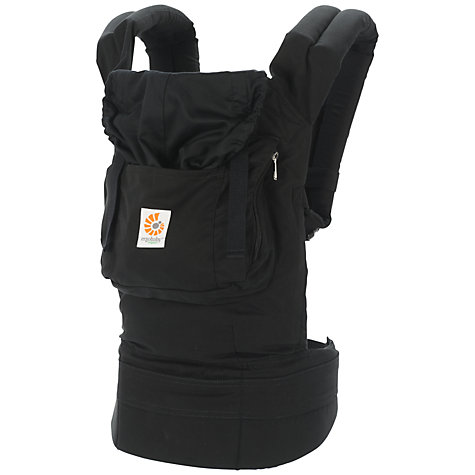 Buy Ergobaby Organic Baby Carrier, Black Online at johnlewis.com