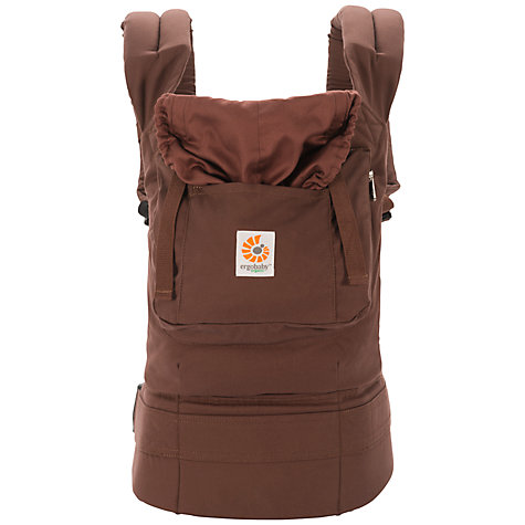 Buy Ergobaby Organic Baby Carrier, Chocolate Brown Online at johnlewis.com