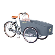 Buy Johnny Loco Earl Grey Cargo Bike, Grey Online at johnlewis.com