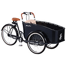 Buy Johnny Loco Dutch Delight E-Cargo Bike, Black Online at johnlewis.com