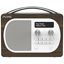 Buy Pure Evoke D4 DAB/FM Radio, Walnut + F1 ChargePAK Online at johnlewis.com