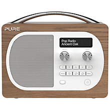 Buy Pure Evoke D4 DAB/FM Radio, Oak + F1 ChargePAK Online at johnlewis.com