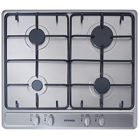 Buy Stoves SGH600E Gas Hob, Stainless Steel Online at johnlewis.com