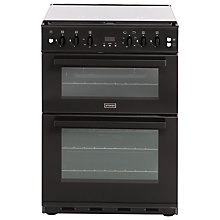 Buy Stoves SFG60DOP Fanned Gas Cooker, Black Online at johnlewis.com
