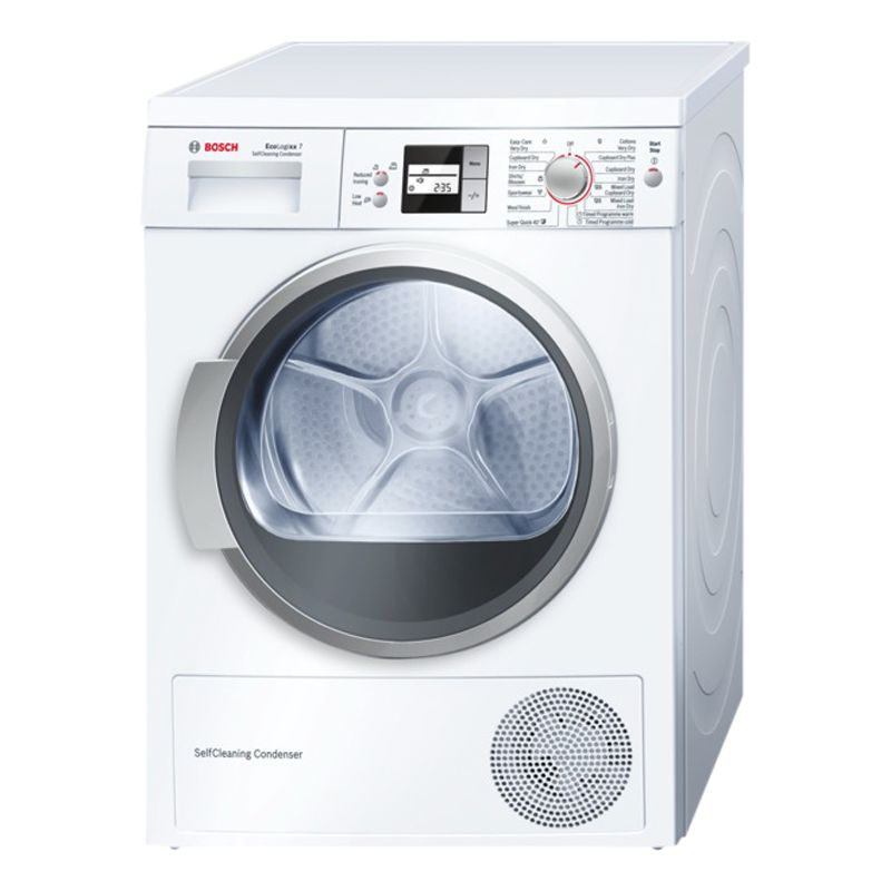 Bosch WTW86562GB Logixx 7kg Freestanding Condenser Tumble Dryer With Heat Pump - White