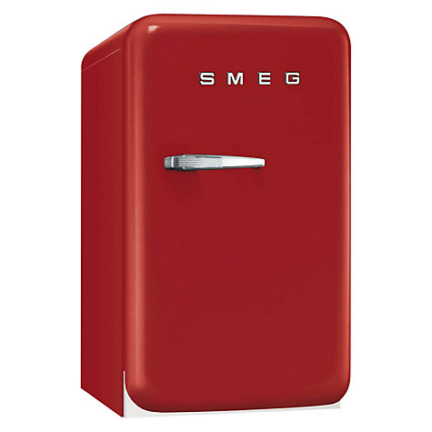 Buy Smeg FAB5RR Retro Mini Bar Fridge, 40cm Wide Online at johnlewis.com
