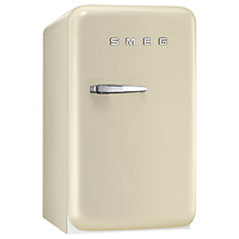 Buy Smeg FAB5RR Retro Mini Bar Fridge, 40cm Wide, Cream Online at johnlewis.com