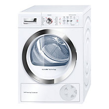 Buy Bosch WTY86790GB Sensor Condenser Tumble Dryer, 8kg Load, A++ Energy Rating, White Online at johnlewis.com