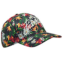 Buy Franklin & Marshall Floral Print Cap, One Size, Navy/Multi Online at johnlewis.com
