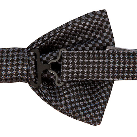 Buy Denison Boston Check Bow Tie, Black Online at johnlewis.com