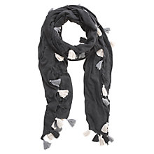 Buy Mint Velvet Pompom Scarf, Granite Grey Online at johnlewis.com