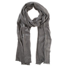 Buy Mint Velvet Khaki Crystal Trim Scarf, Dark Grey Online at johnlewis.com