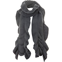 Buy Mint Velvet Chunky Knit Scarf, Granite Online at johnlewis.com