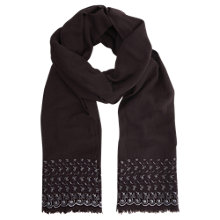 Buy Mint Velvet Embroidered Scarf, Wine Online at johnlewis.com