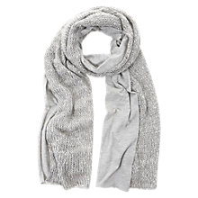 Buy Mint Velvet Jersey & Knit Sequin Scarf, Grey Online at johnlewis.com