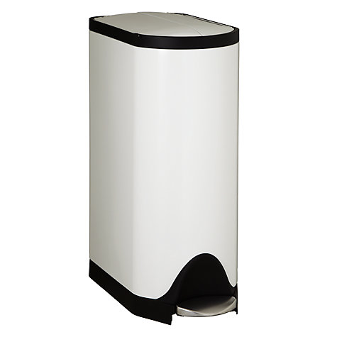 Buy simplehuman Butterfly Pedal Bin, White, 30L Online at johnlewis.com