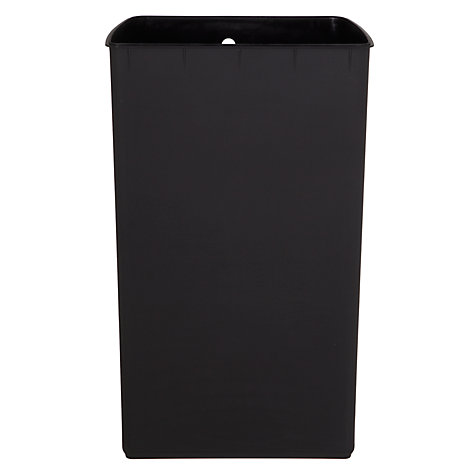 Buy simplehuman Wide-Pedal Rectangular Bin, Black Steel, 38L Online at johnlewis.com