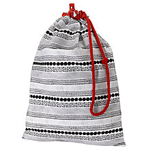 Buy House by John Lewis Bead Stripe Laundry Bag Online at johnlewis.com