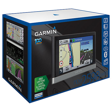 Buy Garmin nüvi 2598LMT-D GPS Navigation System, Free Lifetime Europe Maps and Traffic Online at johnlewis.com