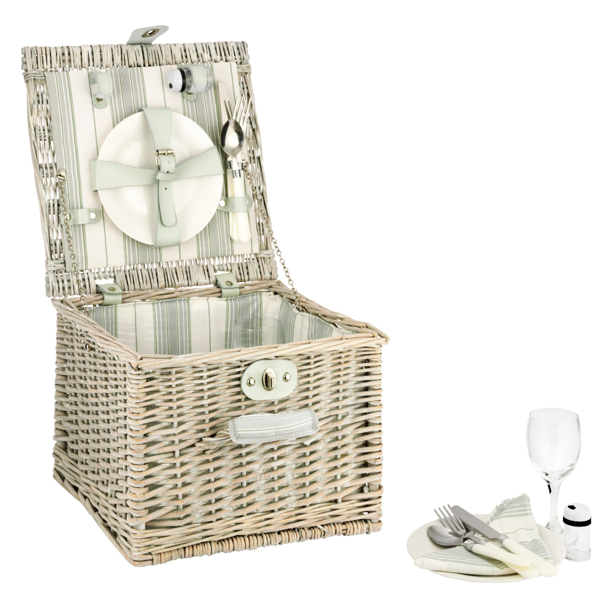 John Lewis Maison Gold Willow Hamper, 2 Persons
