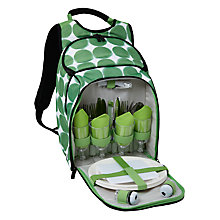 Buy House by John Lewis Dots Picnic Backpack, 4 Persons Online at johnlewis.com