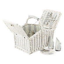 Buy John Lewis Maison White Willow Hamper, 4 Persons Online at johnlewis.com