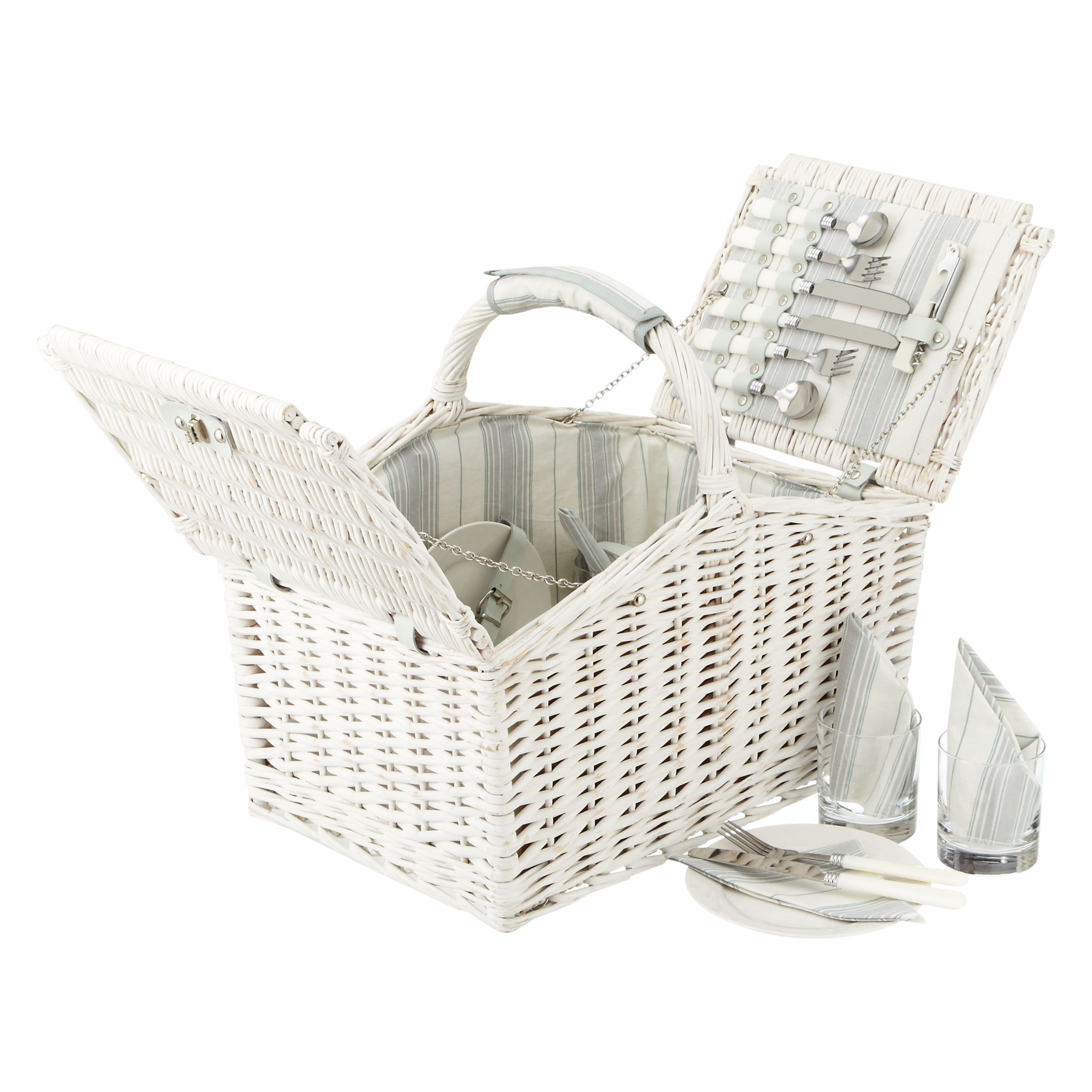 John Lewis Maison White Willow Hamper, 4 Persons