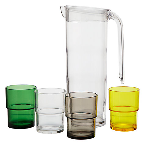 Buy House by John Lewis Pitcher and Glasses, Set of 5 Online at johnlewis.com