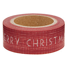 Buy East of India Merry Christmas Paper Tape, 10m, Red Online at johnlewis.com
