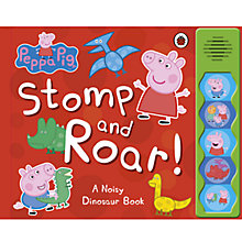 Buy Peppa Pig Stomp & Roar Noisy Dinosaur Sound Book Online at johnlewis.com