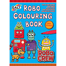 Buy Galt Robo Colouring Book Online at johnlewis.com