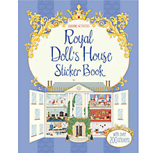 Buy Usborne Royal Doll's House Sticker Book Online at johnlewis.com