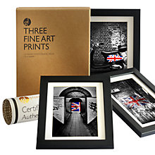 Buy Gallery One Union Jack Fine Art Framed Prints, Set of 3, 24 x 18cm Online at johnlewis.com