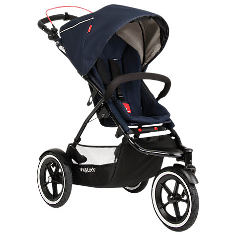 Buy Phil & Teds Navigator 2 Pushchair, Mid Blue Online at johnlewis.com