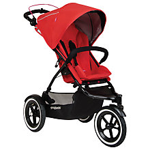 Buy Phil & Teds Sport 2 Pushchair with Free Double Kit, Red Online at johnlewis.com