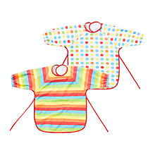 Buy John Lewis Rainbow Terry Bibs, Pack of 2 Online at johnlewis.com