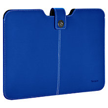 "Buy Targus Twill Sleeve for 13.3"" MacBook & MacBook Air, Blue Online at johnlewis.com"