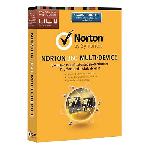 Buy Norton 360 Multi-Device 2014, 3 Devices Online at johnlewis.com
